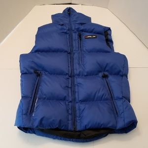 POLO RLX RALPH LAUREN BLUE QUILTED GOOSE DOWN PUFF